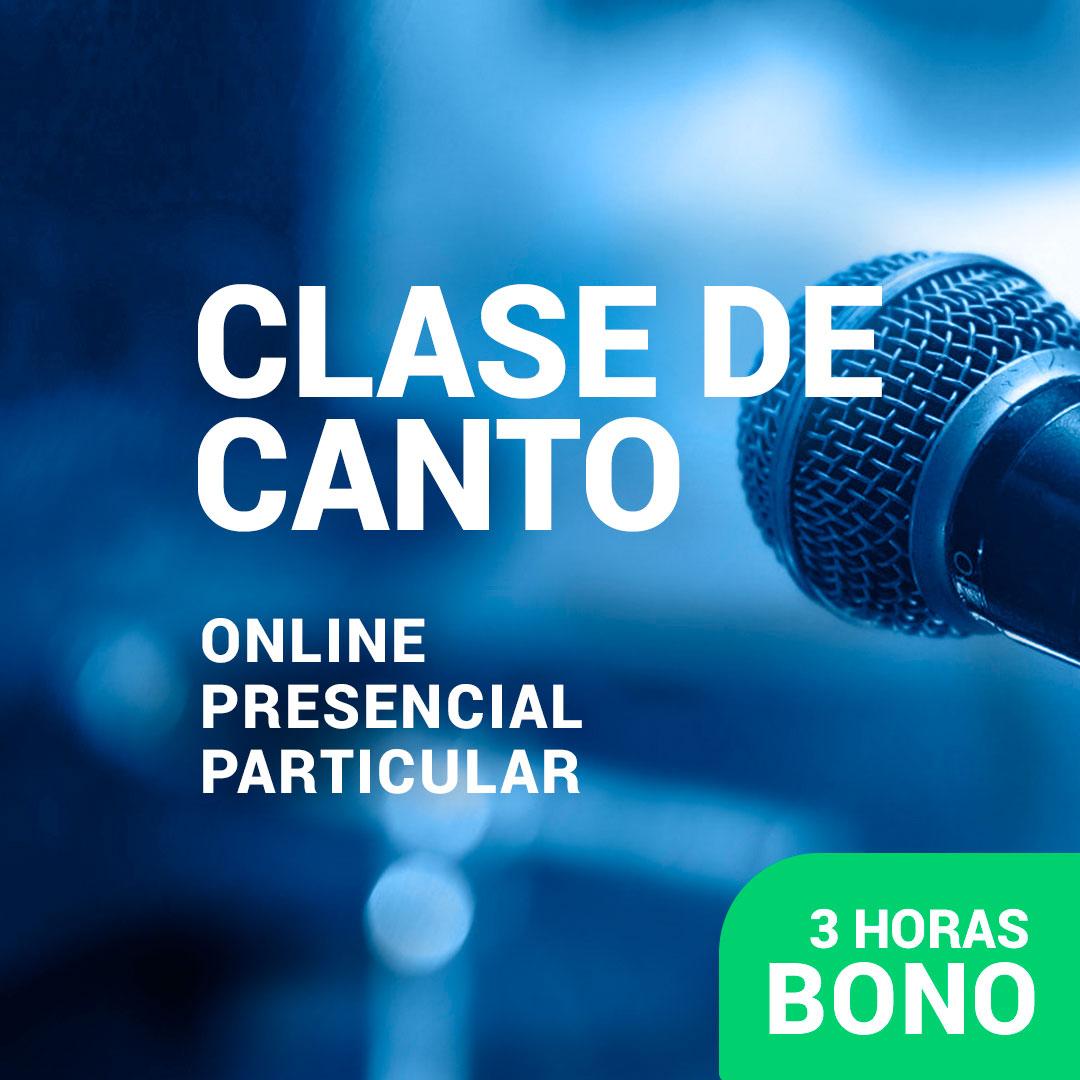 Clases de canto - Bono 3 horas